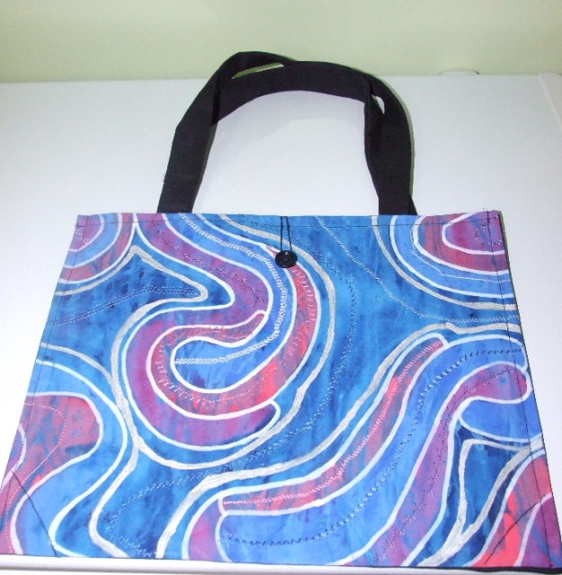 Tote Style Bag with Hooped Buttoned closure $25 CAD