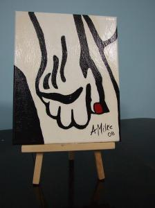 White Hand Red Nail